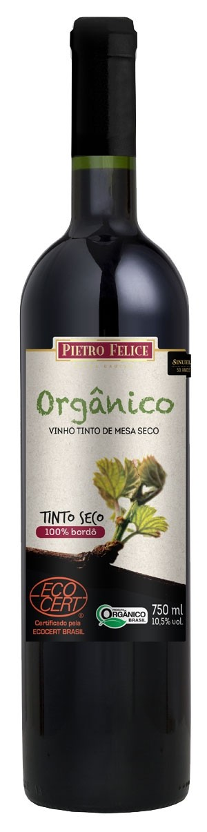 48df02714 Vinho Bordô de Mesa Seco Orgânico Pietro Felice 750ml By Sinuelo